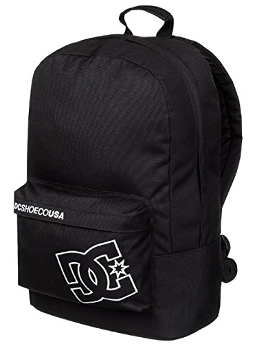 DC Bunker Solid Black White Nylon New Mens Womens Unisex Shoulder School Bag Backpack