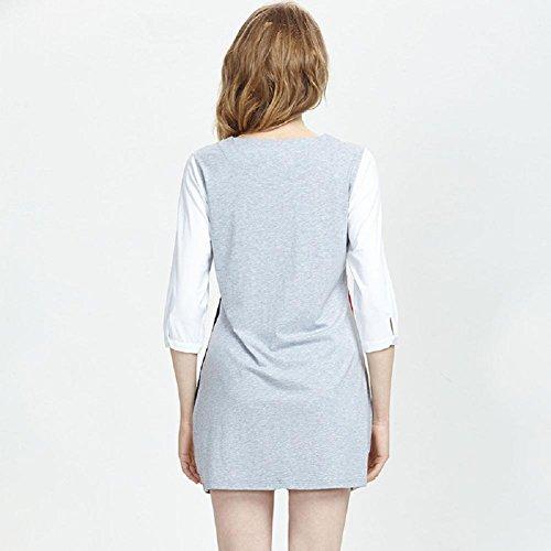 DMMSS Frau Sommer Ärmel Dünner Abschnitt Des Schläfers Kleides Kann Außerhalb Sein Der Home-Service Hit Farbe Bequeme Pyjamas 3