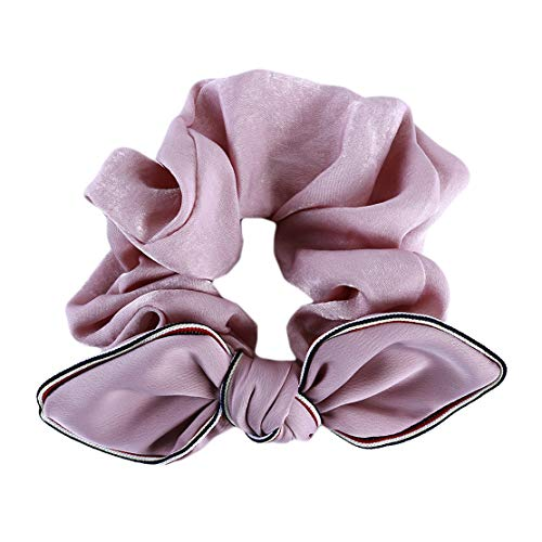YSINFOD Haar Halter Vintage Elastic Printed Hair Wrap Stretchy Gummiband Party Home Office Elegante Haarschmuck Schmuck, Rosa - Elegante Home Office