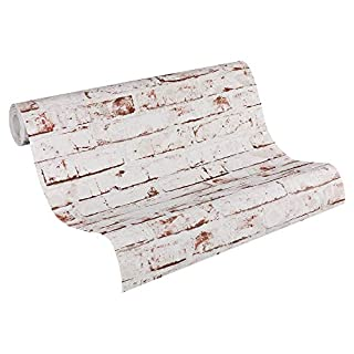 A.S. Creation 9078-13 New England Brick Effect Wallpaper, Beige,Braun,Rot, 10,05m x 0,53m