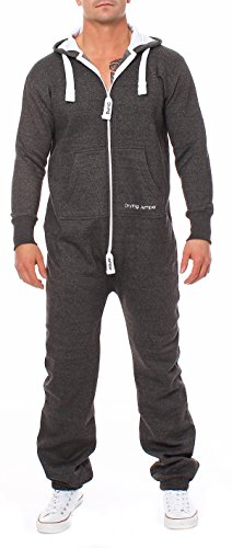 3b917c6925fe Drying Jumper Herren Jumpsuit Overall Jogging Anzug Trainingsanzug  Dunkelgrau