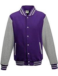 Just Hoods - Giacca - Collo mao - Maniche lunghe - Opaco - Uomo Viola Purple 92592631717