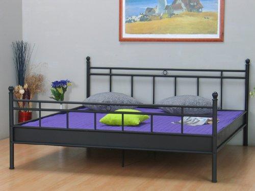 Metallbett Bett 140x200 schwarz Doppelbett Ehebett Jugendbett Landhaus Stil