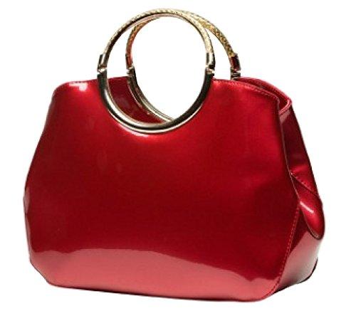 LAIDAYE Weibliche Art Und Weise PU-Lackleder Handtasche Große Tasche 2