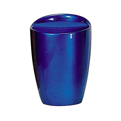LJHA Tabouret pliable Repose-pieds simple créatif / tabouret de maquillage de chambre à coucher / tabouret coloré de stockage / changement tabouret de chaussures (10 couleurs facultatives) chaise patchwork ( Couleur : Bleu )