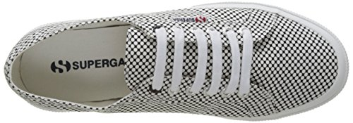 Superga 2750-Fabricshirtu, Baskets Basses Mixte Adulte Blanc (Optical Black-White)