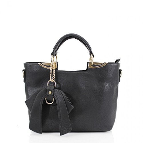 - 41twf1kNhyL - LeahWard® Women's Faux Leather Tote Grab Handbags Shoulder Bags With Bow 32