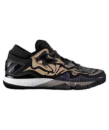 adidas Crazylight Boost Lo, Scarpe da Basket Uomo Nero (Cblack/Cblack/Cblack)