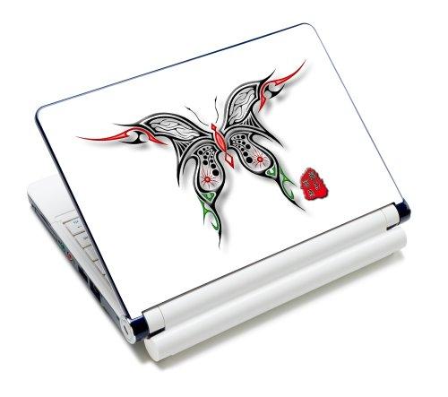 Luxburg® Design Aufkleber Schutzfolie Skin Sticker für Notebook Laptop 10 / 12 / 13 / 14 / 15 Zoll, Motiv: Schmetterling Scherenschnitt