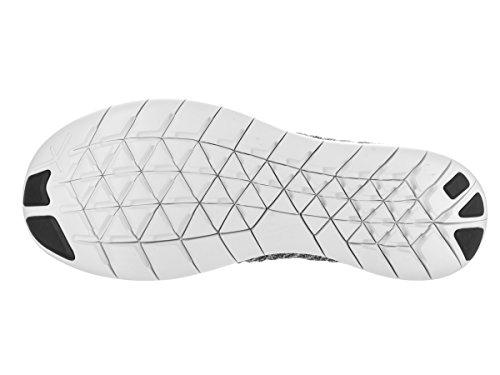 Nike Wmns Free Rn Flyknit, Chaussures de Running Entrainement Femme Blanc (blanc / noir)