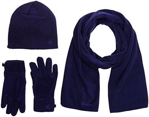Craghoppers Herren \'s Essential II Fleece Mütze/Schal/Handschuhe Set M Nacht Blau