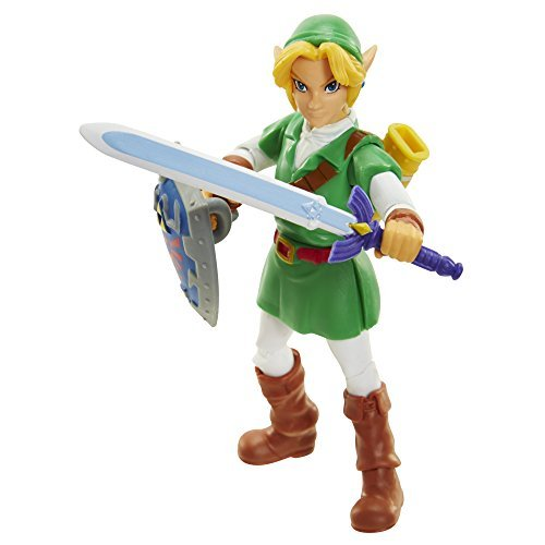 World of Nintendo 91441 4 Link Ocarina of Time Action Figure by World of Nintendo
