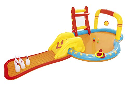 Bestway Inflatable Kids Water Play Center - Lil' Champ Paddling Pool with Multiple Activities