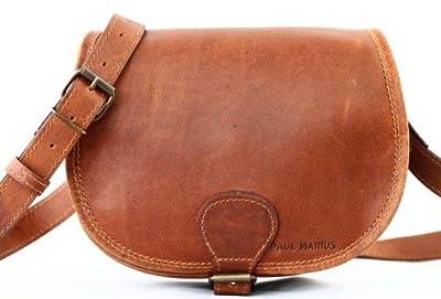 LE BOHEMIEN Light Brown leather shoulder bag bohemian style adjustable strap PAUL MARIUS