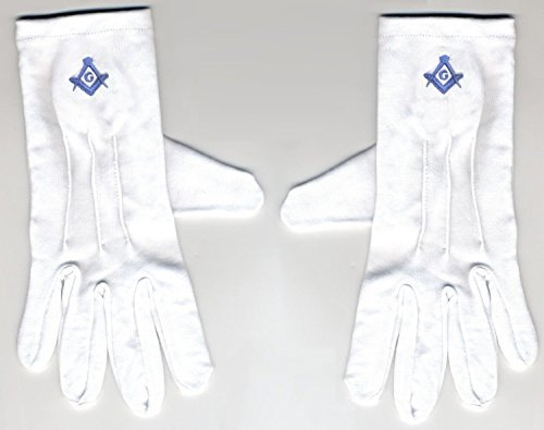 size-large-embroidered-stitched-blue-logo-gloves-masonic-logo-mason-freemason-freemasons-free-mason-