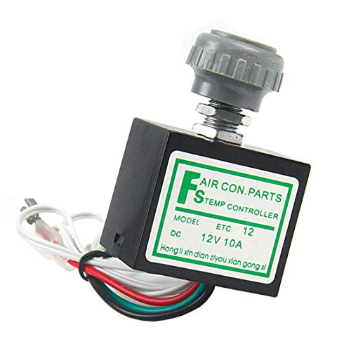 MuChangZi DC 12V 10A Temperatur Drehschalter mit Sensor für Auto A/C Klimaanlagen Verdampfer -