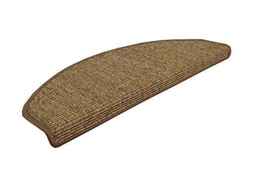 Natur Sisal Stufenmatten Nuss (halbrund) einzeln oder im 15er Set in 2 Größen, Größe / Menge:18x56 cm = 15 Stck.