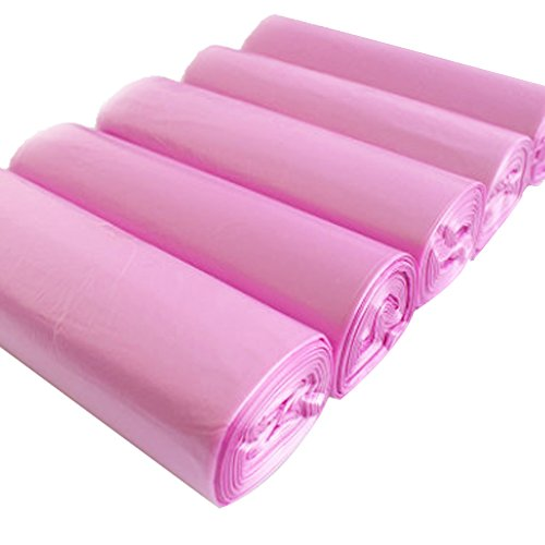 DDGE DMMS 100 Juegos de Bolsas de Basura Gruesas Rollo de plástico Bolsas de Basura Color Cocina Familia baño Dormitorio baño baño baño baño Basura
