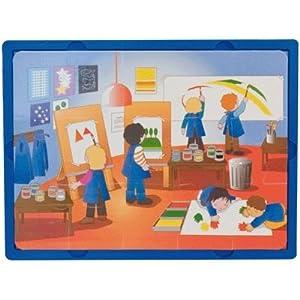 Learn and Play Aprende y Juega 27,5 x 19 cm Puzzle Escuela Blando (Juego de 3)