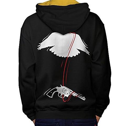 Pistolet Oiseau Cool Bandit Sauvage Pistolet Homme M Sweat à capuche contrasté le dos | Wellcoda