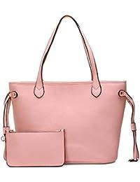 JOSEKO Bolso de mano de mujer, bolso de mensajero, bolso de hombro con imagen grande, bolso de madre, conjunto de tres piezas, elegante, conciso y generoso