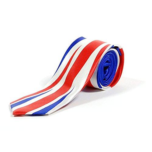 Retro Styler Neuheit, schmale Union-Jack-Krawatte