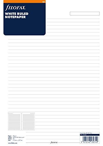 Filofax 293008 Notizpapier A4, liniert, weiß