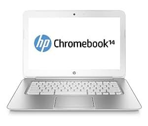 """HP Chromebook 14-q000ef 14"""" Blanc (Intel Celeron, Chrome OS, 4 Go de RAM, Disque dur 16 Go)"""