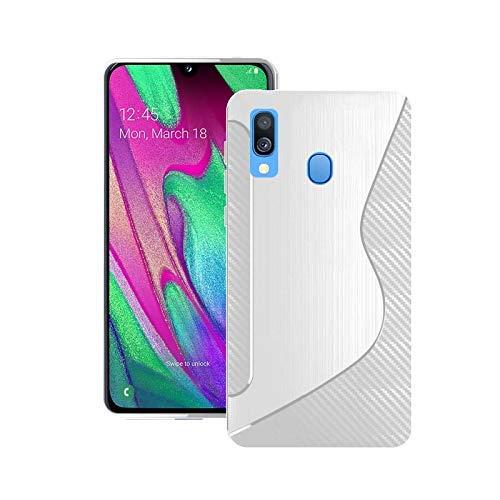 Kompatibel mit Galaxy A40 2019 Silikon S-LINE Gel Schutzhülle in Durchsichtig