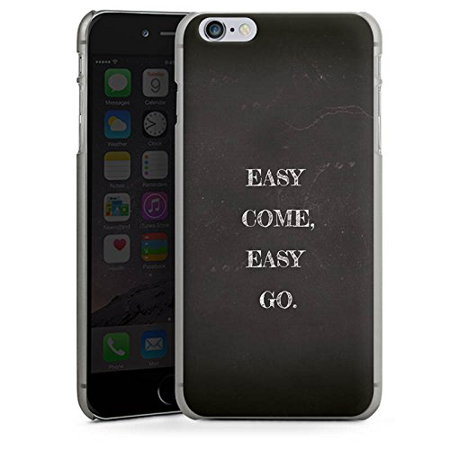 Apple iPhone X Silikon Hülle Case Schutzhülle Sprüche Statement Easy Hard Case anthrazit-klar