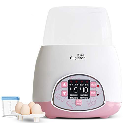 ZL Scaldabiberon Sbrinamento del Latte materno, Bottiglia Sterilizzatore a Vapore ed essiccatore, Formula Alimenti per Bambini Riscaldamento rapido Display a LED Spegnimento (Colore : Pink)