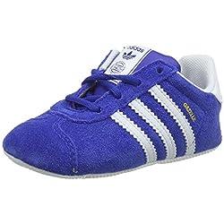 adidas Gazelle Crib, Zapatillas Unisex bebé, Azul (Collegiate Navy/Footwear White/Gold Metallic 0), 17 EU