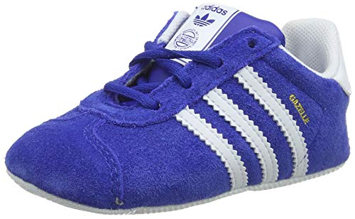 new products 68958 8713f adidas Unisex Babies Gazelle Crib Gymnastics Shoes, Blue Collegiate  NavyFTWR White
