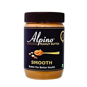 Alpino Classic Peanut Butter Smooth 1 KG | Made with Roasted Peanuts | 25% Protein | Non GMO | Gluten Free | Vegan