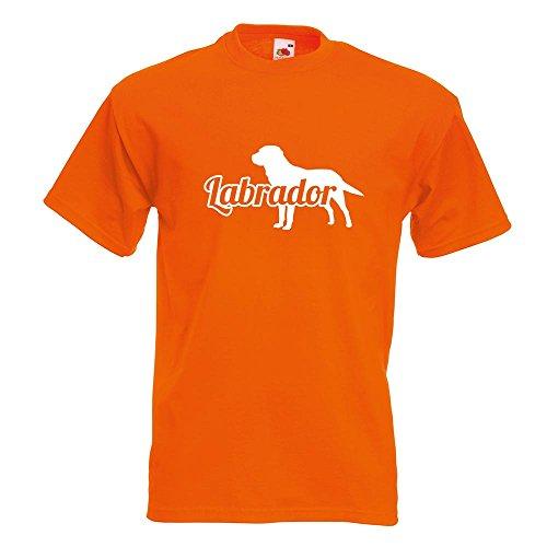 KIWISTAR - Labrador Retriever T-Shirt in 15 verschiedenen Farben - Herren Funshirt bedruckt Design Sprüche Spruch Motive Oberteil Baumwolle Print Größe S M L XL XXL Orange