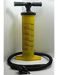 Doppelhub Handpumpe mit versch. Aufsätzen 2 x 2 L, Luft Matratzen Hub Hand Pumpe (LHS)