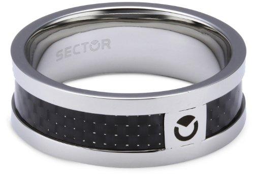 Sector Herren-Ring Edelstahl 55 (17.5)  - SZT05025