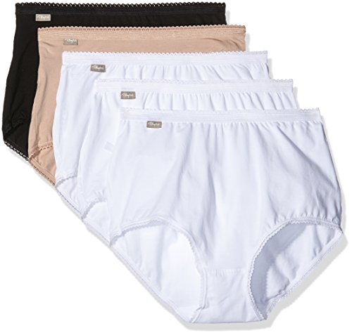 playtex-coton-culotte-maxi-uni-3-2-gratuites-femme-multicolore-blanc-blanc-blanc-noir-peau-fr-44-tai