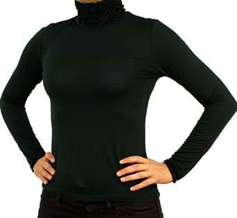 2917 PERANO Damen Rollkragen Bluse, grün.
