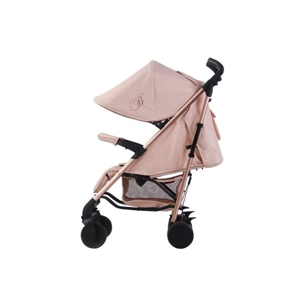 My Babiie Billie Faiers MB51 Rose Blush Stroller  Suitable from birth to maximum 15kg Extendable 3 position canopy Lockable swivel front wheels 3