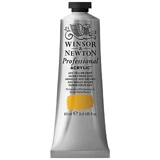 Winsor & Newton 60 ml Professional Acrylic Colour - Azo Yellow Deep