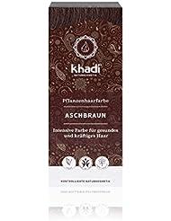 khadi Pflanzenhaarfarbe Aschbraun 100g I Haarfarbe für mattes und mittleres Braun I Naturhaarfarbe 100% pflanzlich