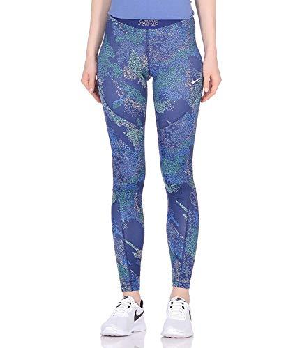 Nike Damen W Nk Tght Vcty Mod Floral Cam Netze, blau/weiß (Blue Void/White), S Weiß Floral Tights