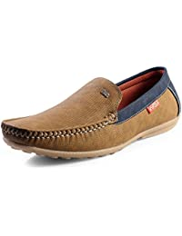 Red Rose Men's Blue Stylish Loafer Shoes