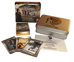 James Bond oo7 50th Anniversary playing cards twin gilt-edged Movies 1-22 (Skyfall)