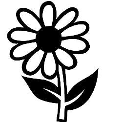 Mrlwy 36x48cm Flor de la Margarita Pegatinas de Coche Calcomanías de vinilo arte decoración para el hogar negro pegatinas de pared