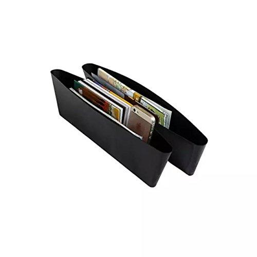 Goliton® 2 PCS boîte de rangement de siège de voiture écart fuite,boîte à gants de voiture débris de poubelle-Noir