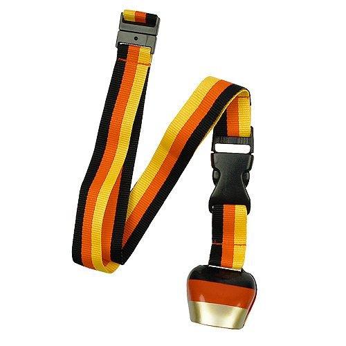 (Kuhglocke aus Metall im Deutschland Design schwarz-rot-gold am Lanyard - Schlüsselband von SWITCH!)