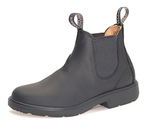 Yabbies for Kids Leder Boots Schuhe für Kinder Stiefelette – Black/Schwarz + Schuhlöffel (UK 03 / EU 35.5)