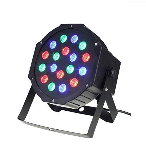 KesiErte Disco Lichter, DMX-512 18 LEDs Stroboskop Lichter DJ Lichter Party Lichter Sound-aktivierte RGB komplexe Lichteffekte für Hochzeit Home Party Bar Club Pub Bar Weihnachts Licht (Stroboskop Licht Blitz)